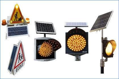 Feu clignotant fonctionnant à l'énergie solaire
