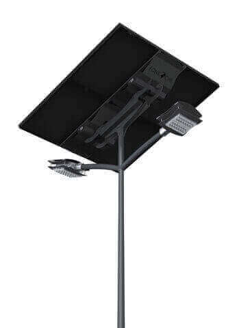 , LAMPADAIRE SOLAIRE LED CROSSE DOUBLE, Takoussane Energy