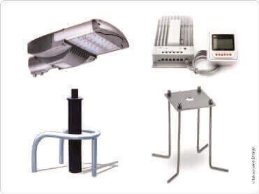Accessoires pour lampadaires solaires