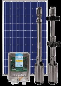 Pompe immergée à fonctionnant à l'énergie solaire