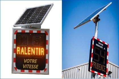Radar de vitesse fonctionnant à l'énergie solaire