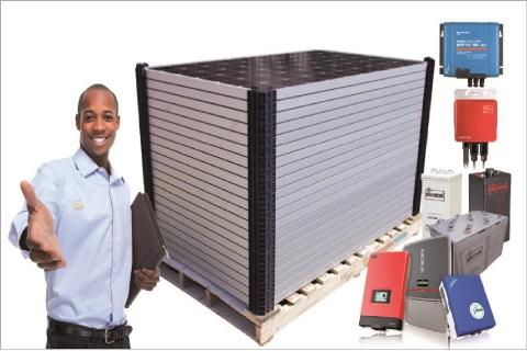 Distributeur d'équipements d'énergie solaire