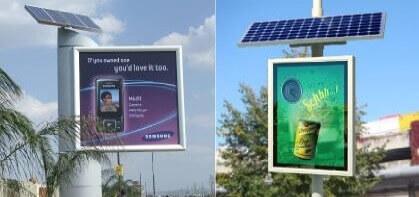panneaux publicitaires lumineux fonctionnant à l'énergie solaire