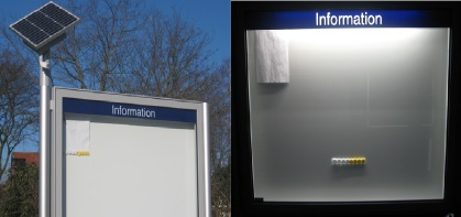 Enseigne lumineuse fonctionnant à l'énergie solaire
