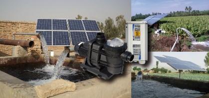 Pompe de surface fonctionnant à l'énergie solaire
