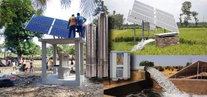Pompe à eau fonctionnant à l'énergie solaire